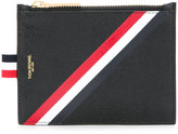 Thom Browne striped print zipped purse