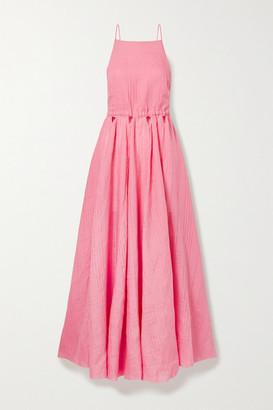Cult Gaia Bella Open-back Cutout Linen Maxi Dress - Pink