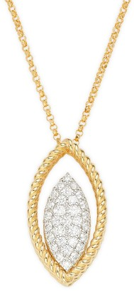 Roberto Coin 18K Two-Tone Gold, Ruby & Diamond Pendant Necklace
