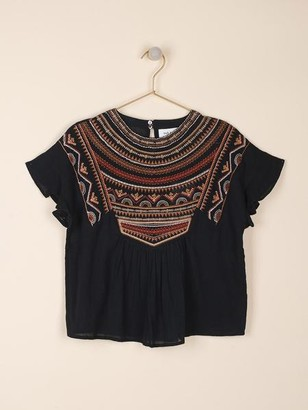 Indi & Cold - Top With Folk Embroidery - L