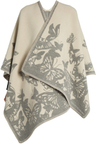 Alexander McQueen Moth-jacquard wool and cashmere-blend cape