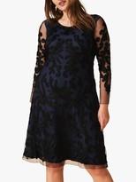 Studio 8 Aimee Tapework Dress, Navy/Black