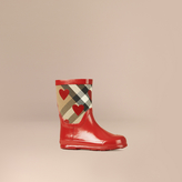 Burberry Check and Heart Print Rain Boots