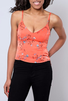 Honey Punch Floral Satin Tank