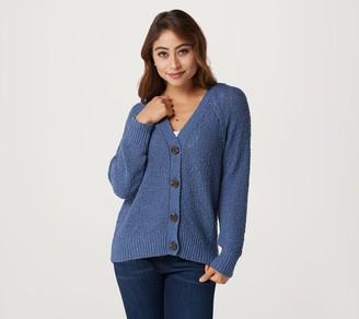 Denim & Co. Naturals Long Sleeve Button Front Cardigan