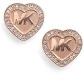 Michael Kors Women's Heart Stud Earrings