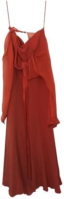 Rena Lange Red Linen Dress for Women
