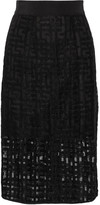 Milly Embroidered tulle skirt