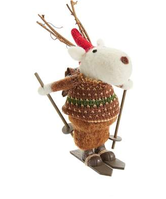 Giftcraft Deer On Skis Ornament