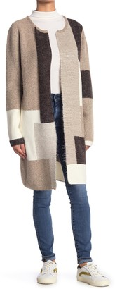 Cyrus Colorblock Print Knit Cardigan