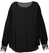 MS MIN lace cuff jumper - women - Nylon/Wool - 4
