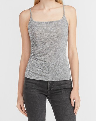 Express Metallic Ruched Side Cami