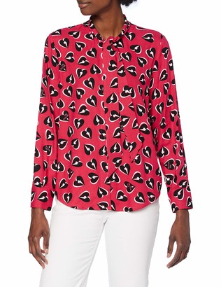 Love Moschino Women's Long Sleeve Shirt_Allover Thunder Hearts