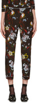 Erdem Black Floral Guilia Trousers