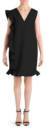 MSGM Side Ruffle Shift Dress
