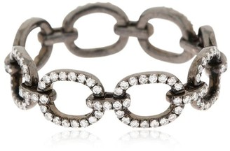 Ef Collection Diamond Chain Link 14kt Black Gold Ring