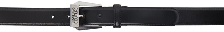 Thumbnail for your product : Versace Jeans Couture Black & Silver Leather Belt