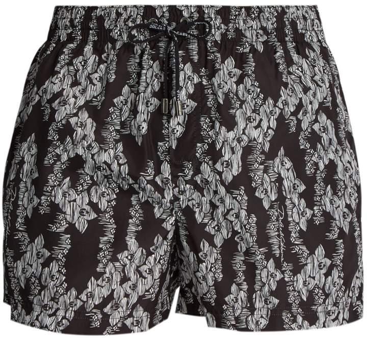 Dolce & Gabbana Hawaiian-print swim shorts