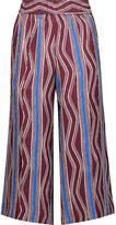 Suno Printed silk-satin jacquard culottes