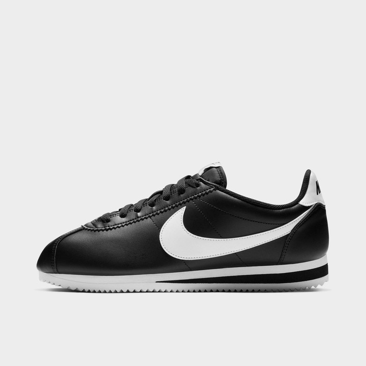 Black Leather Nike Cortez | Shop the
