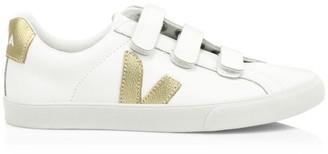 Veja Esplar 3-Lock Leather Low-Top Sneakers