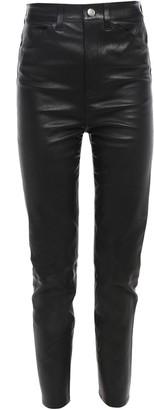 Sprwmn Cropped Stretch-leather Slim-leg Pants