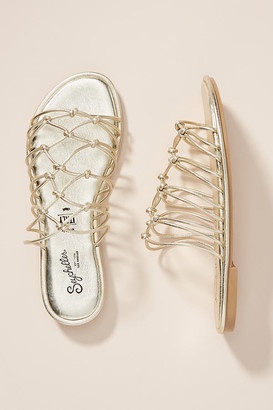 Seychelles Knotted Sandals By in Gold Size 6