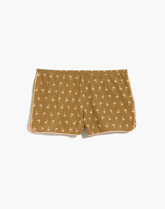 Madewell Knit Bedtime Pajama Shorts in Palm Print
