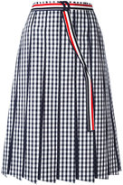 Thom Browne pleated gingham skirt - women - Cotton/Silk/Polyester - 40