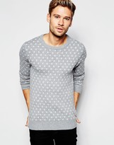 Esprit Jacquard Polka Dot Knitted Jumper - Grey