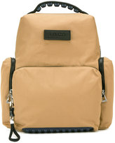 Kenzo logo backpack - men - Leather/Nylon/Polyester - One Size