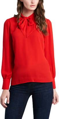 Vince Camuto Tie Neck Long Sleeve Blouse
