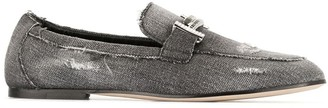 Tod's distressed Gommino loafers
