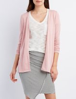 Charlotte Russe Marled Longline Cardigan Sweater