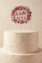 BHLDN Blushing Roses Cake Topper