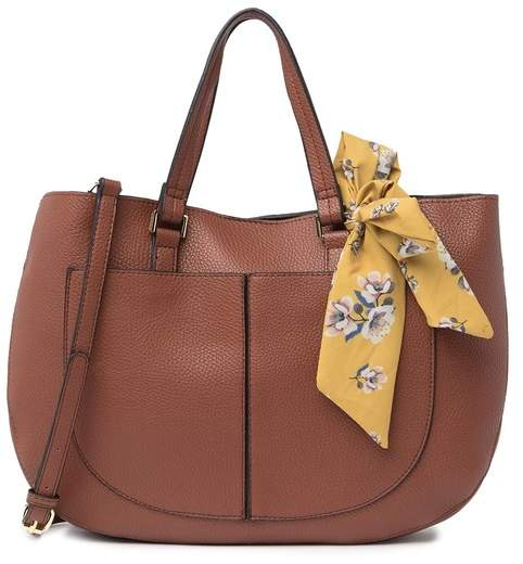 Steve Madden Solid Satchel with Scarf