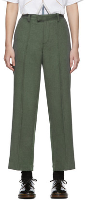 Undercover Green Angora and Wool Fabric Mix Trousers