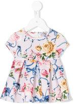 MonnaLisa floral ribbon print dress