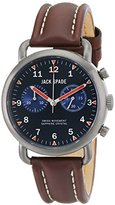 """Jack Spade Men's WURU0124 """"Norton"""" Stainless Steel Watch with Brown Leather Band"""