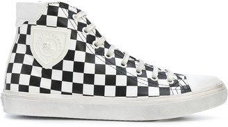 Saint Laurent Bedford checkered high-top sneakers