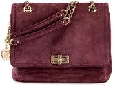 Lanvin Happy Medium Suede Shoulder Bag, Aubergine