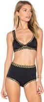 Kiini Chacha Bikini Top in Black. - size L (also in M,S)