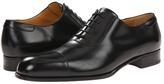 a. testoni Lux Calf Oxford with Cap Toe Men's Lace Up Cap Toe Shoes