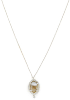 Meira T 14K Rose Gold, Geode & 0.30 Total Ct. Pave Diamond Drop Pendant Necklace