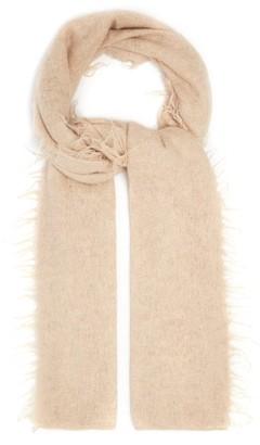 LAUREN MANOOGIAN Fringed Baby Alpaca-wool Scarf - Beige