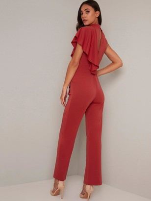 Chi Chi London Ionie Jumpsuit - Rust