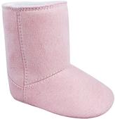 Baby Deer Pink Faux Suede Crib Boot