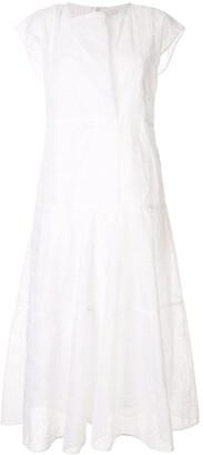 Jil Sander Sleeveless Poplin Midi Dress