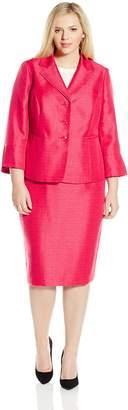 Le Suit Lesuit LeSuit Women's Plus-Size Shimmer 3 Button Lapel Suit