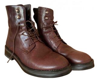 Jonak Burgundy Leather Boots